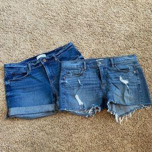 Loft jean shorts bundle